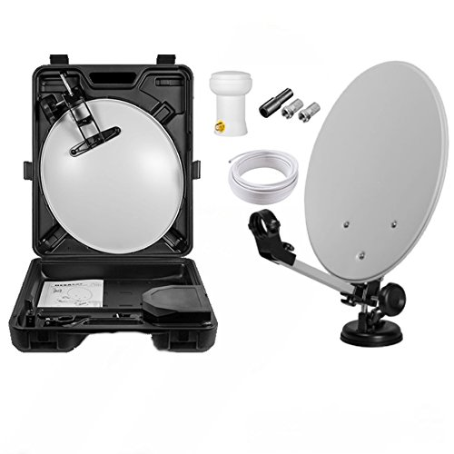 Max-X HD Mobile Camping Sat Anlage im Koffer 40cm...