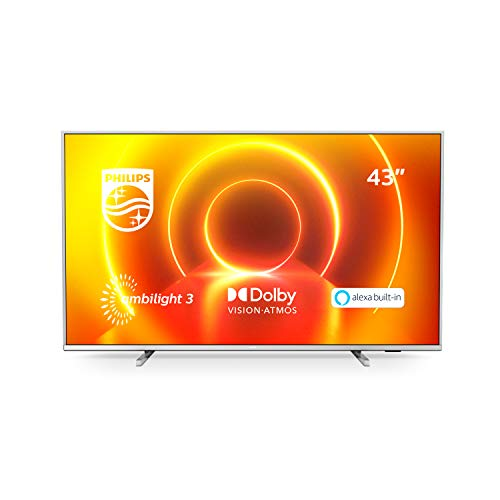 Philips 43PUS7855/12 LED-Fernseher, Silber,...