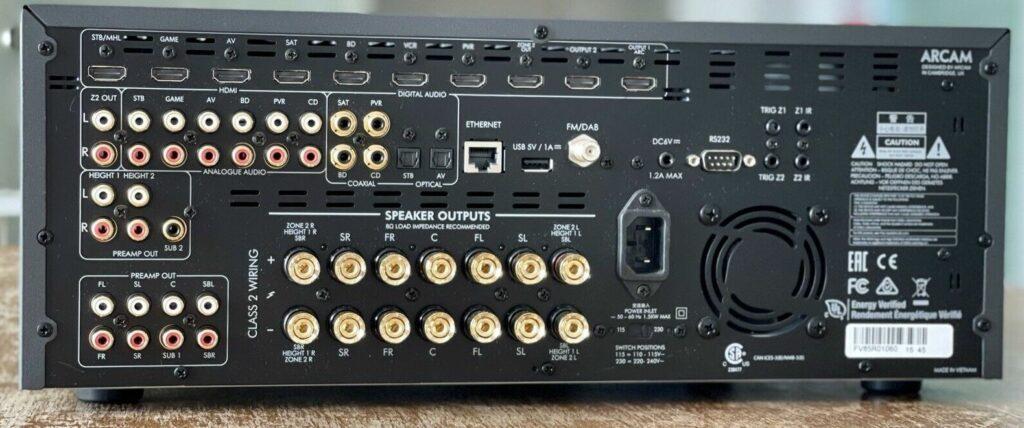 Arcam AVR850 Anschluesse
