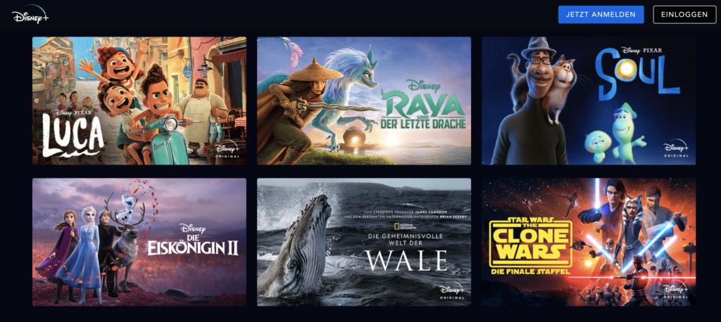 Das Angebot von Disney