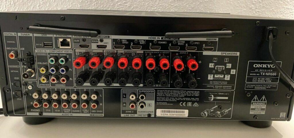 Onkyo TX NR686 Anschluesse