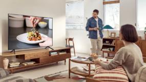 Samsung Crystal UHD 4K TV Wohnzimmer