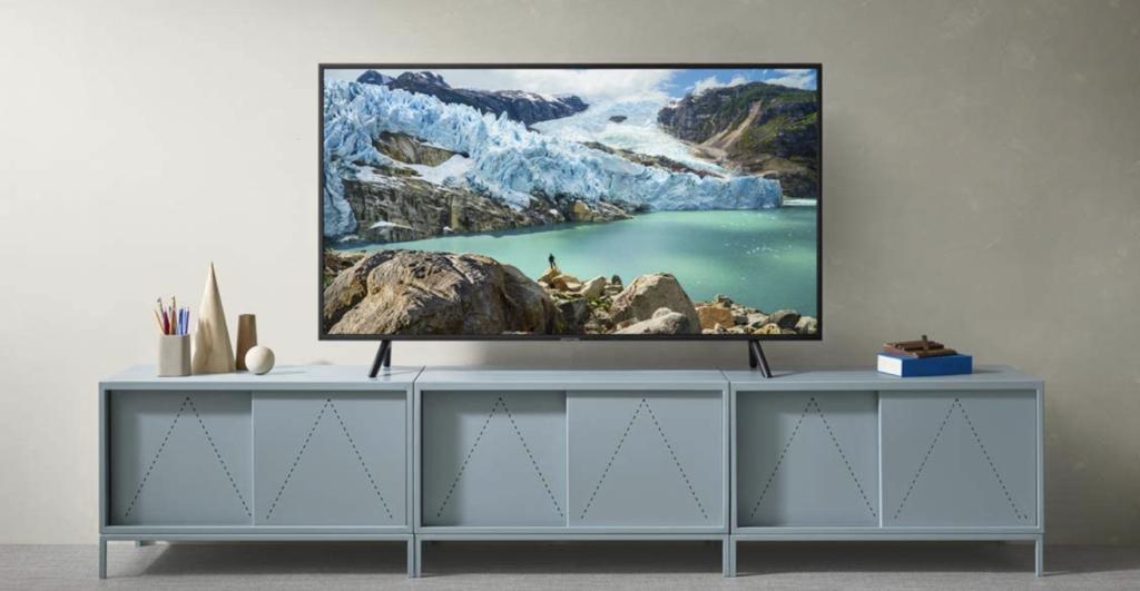 Samsung RU7179 im Wohntimmer