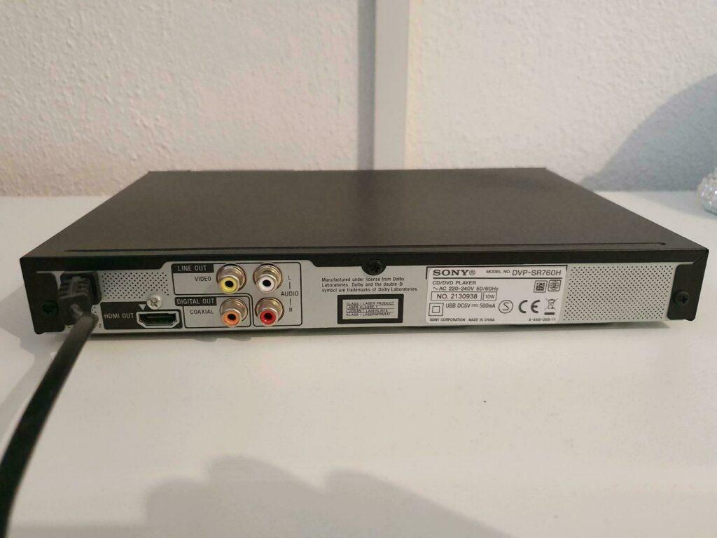 Sony DVP SR760H test 1